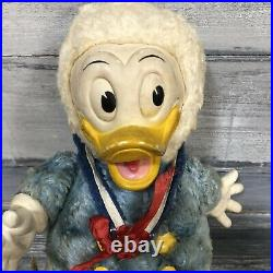 Vtg Gund Walt Disney Prod. Donald Duck stuffed toy vinyl/rubber face hands Plush
