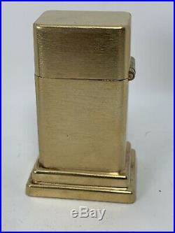 Vtg Walt Disney MICKEY MOUSE Zippo Gold Plated Barcroft Table Lighter Cartoon TV