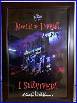 Vtg Walt Disney Mgm Studios I Survived! Twilight Zone Tower Of Terror Poster