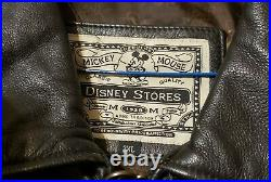 Vtg Walt Disney Studios Animation Collection Men's Black Leather Jacket Size 2x