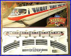 WALT DISNEY WORLD MONORAIL RED with TRACK. RARE, VINTAGE, IN THE ORIGINAL BOX