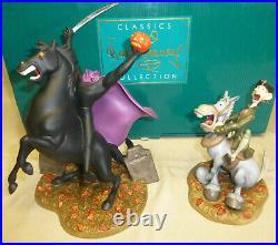 WDCC Headless Horseman Ichabod Crane Figurine Walt Disney Classics Vintage As-is
