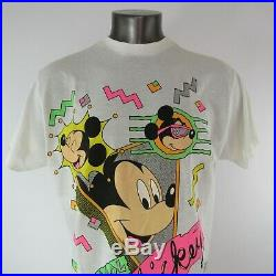 Walt Disney Company T Shirt 1 Size Fits All Cool Mickey Mouse 50/50 Vintage USA