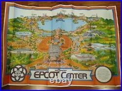 Walt Disney EPCOT CENTER Vintage 1982 First Park Original Map 30 x 43 Poster