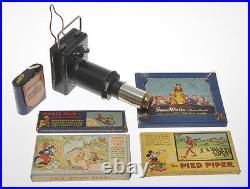 Walt Disney Mickey Mouse vintage toy lantern with slides Snow-White