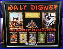 Walt Disney Signed Autograph Check Framed Vintage Disneyland JSA Authentic 1955