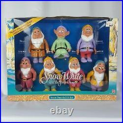 Walt Disney Snow White 7 Dwarfs Doll Set Complete Vintage 1992 Mattel Toys