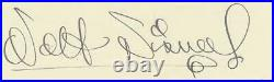 Walt Disney- Vintage Fountain Pen Ink Signature