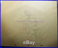Walt Disney Vintage Original Production Drawing c1953 Peter Pan Captain Hook
