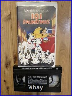 Walt Disney Vintage Set Of 5 VHS Tapes Snow White Bambi Pinocchio 101 Dalmations
