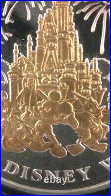 Walt Disney World 25th Anniversary (1971-1996) RARE VINTAGE Silver/Gold Mint