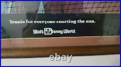 Walt Disney World Vintage 1976 Poster Tennis Match Mickey Mouse