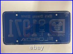 Walt Disney World Vintage Pre-opening Metal License Plate