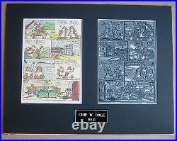 Walt Disney's Chip'N' Dale Vintage 1956 Printing Plate & Page! One-of-a-kind