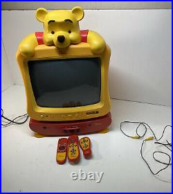 Winnie the Pooh TV DVD Combo Player Vintage Walt Disney Rare Collectable Works