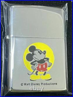 Zippo Walt Disney Character Mickey Mouse Vintage Lighter 1979s Silver Inner Rare